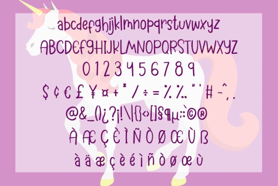 My Unicorn font download