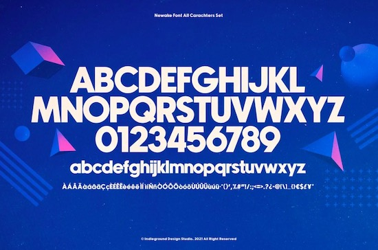 Newake font download