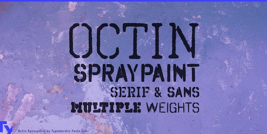 Octin Spraypaint font