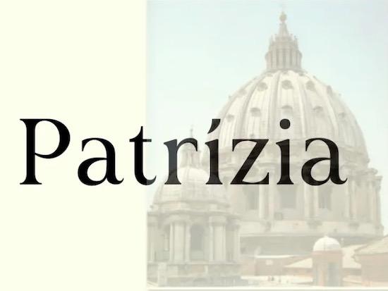 Patrízia font free download