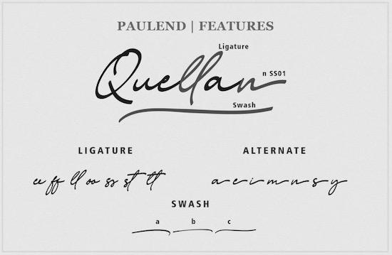 Paulend font download