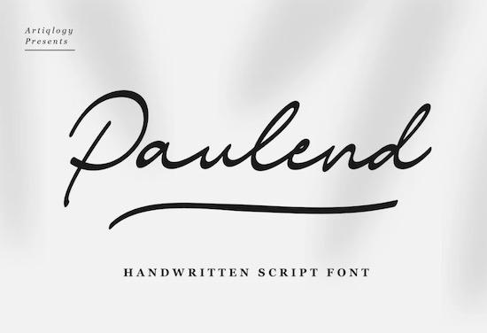 Paulend font free download