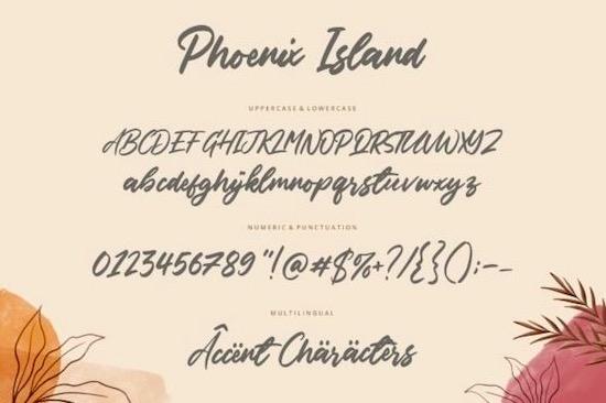 Phoenix Island font download
