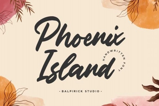 Phoenix Island font free download