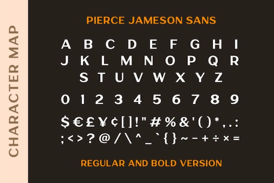 Pierce Jameson font duo download