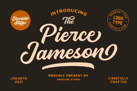 Pierce Jameson font duo free download