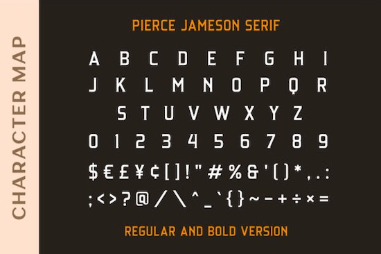 Pierce Jameson font duo free