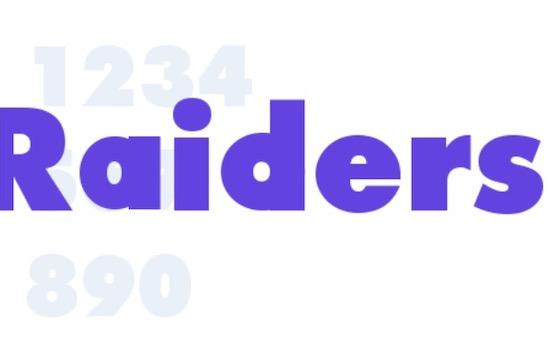 Raiders font