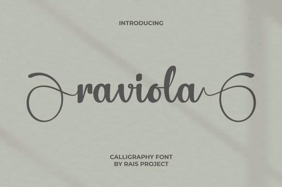 Raviola font free download