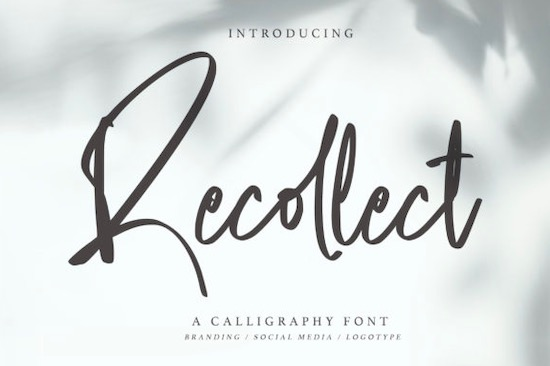 Recollect font free download