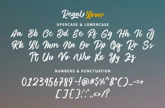 Regal Love font download