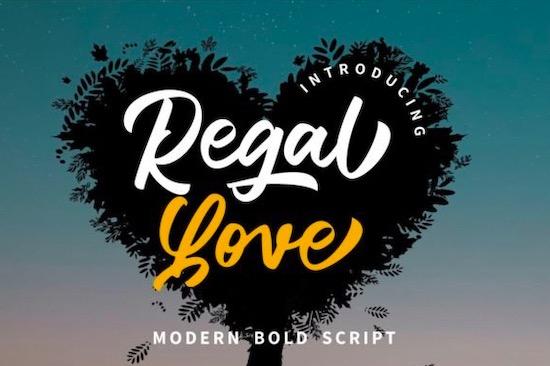 Regal Love font free download