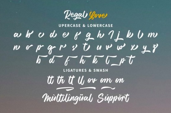 Regal Love font free