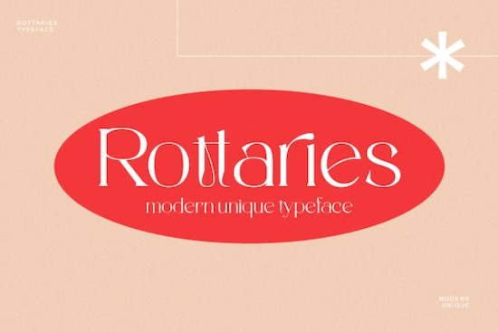 Rottaries font free download