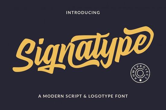 Signatype font free download