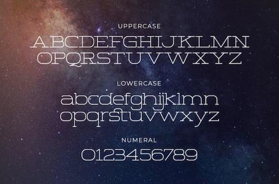 Space Corner font download