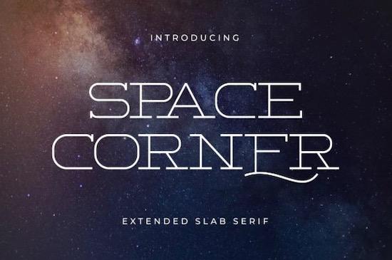 Space Corner font free download