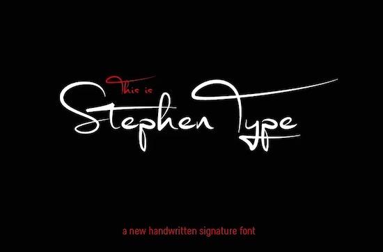 Stephen Type font free download