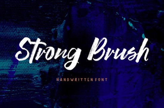 Strong Brush font free download