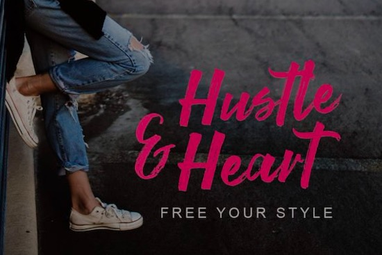 Strong Brush font free