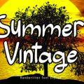 Summer Vintage font free download