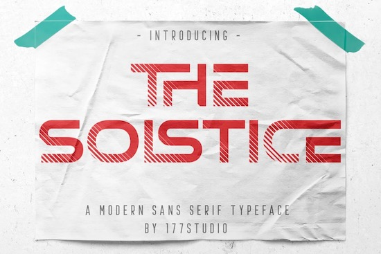 The Solstice font free download