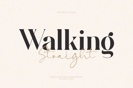 Walking Straight font Duo download