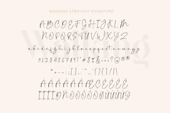 Walking Straight font Duo free