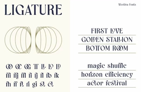 Westiva font family download