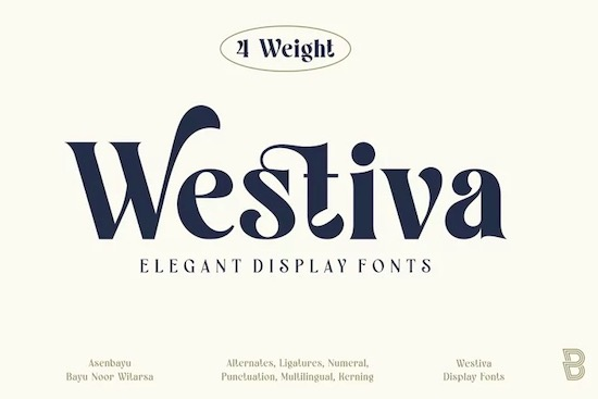 Westiva font family free download