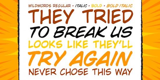 Wild Words font free
