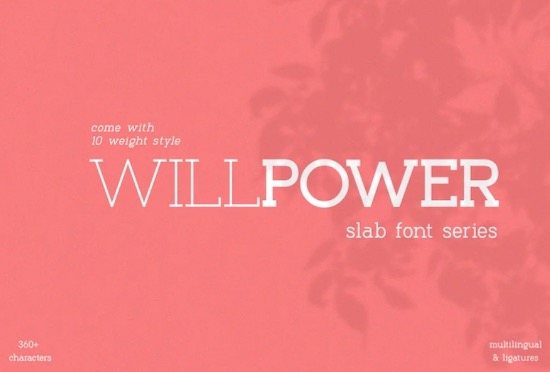 Willpower font free download