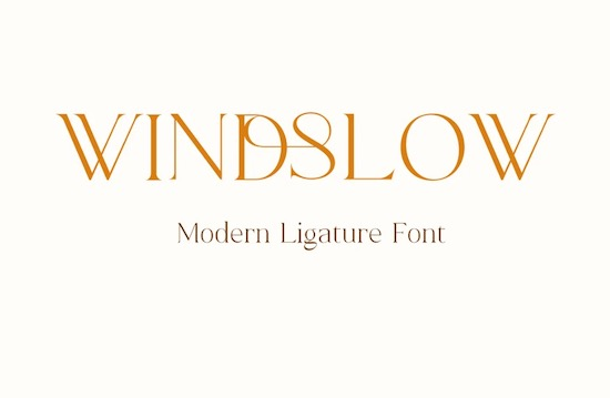 Windslow font free download