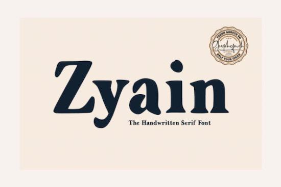 Zyain font free download