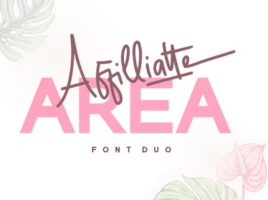 Affilliatte Area font free download