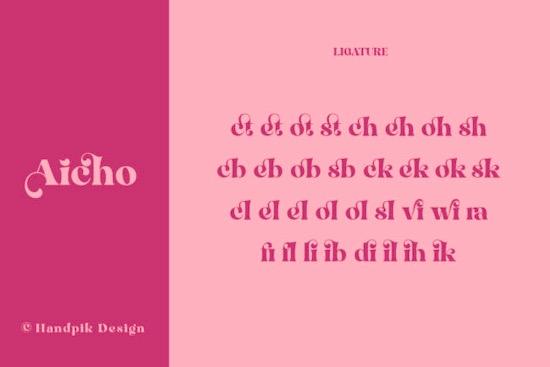 Aicho font free