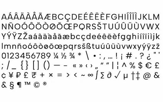 Albert Sans font family