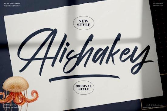 Alishakey Font free download