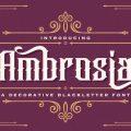 Ambrosia font free download
