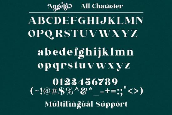 Angela font free