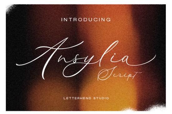 Ansylia font free download