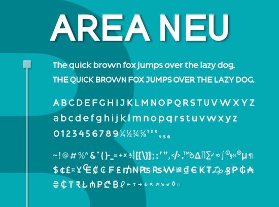 Area Neu font download