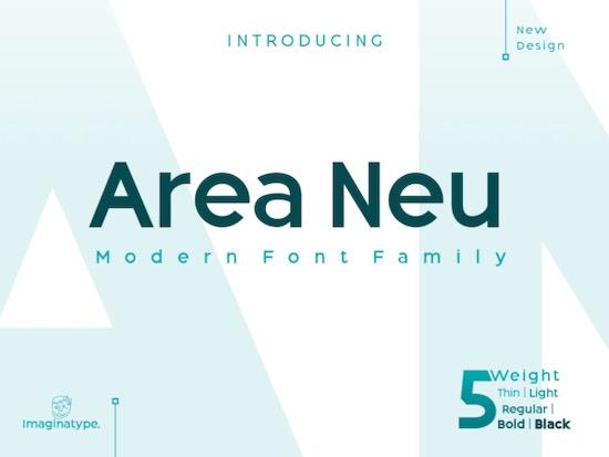 Area Neu font free download