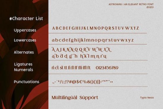 Astrovans font download