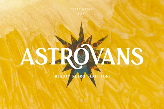 Astrovans font free download