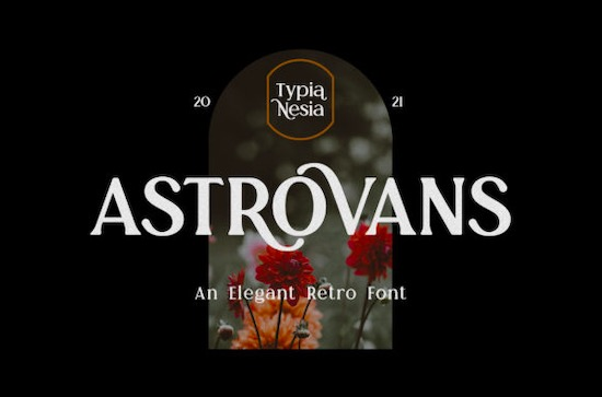 Astrovans font free