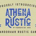 Athena Rustic font free download