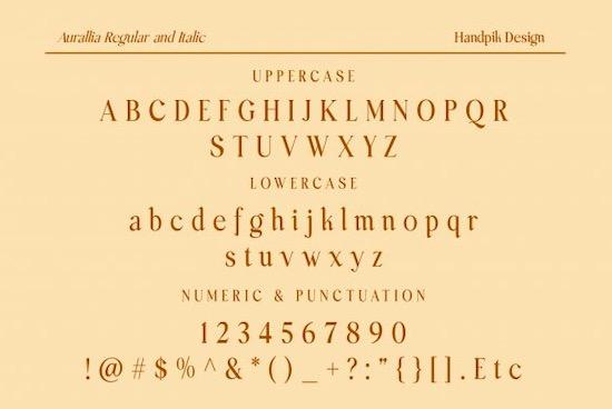 Aurallia font download