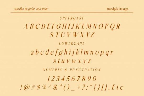 Aurallia font free