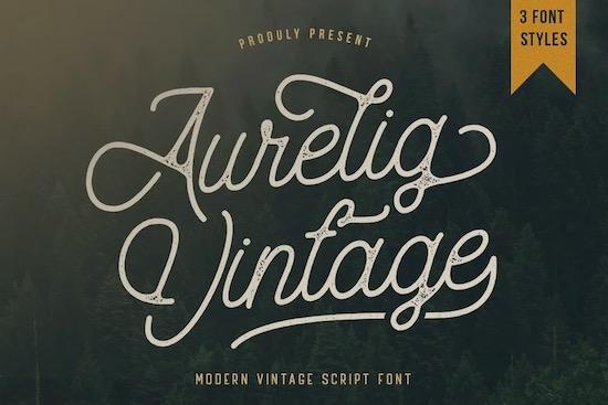 Aurelig Vintage Script font free download